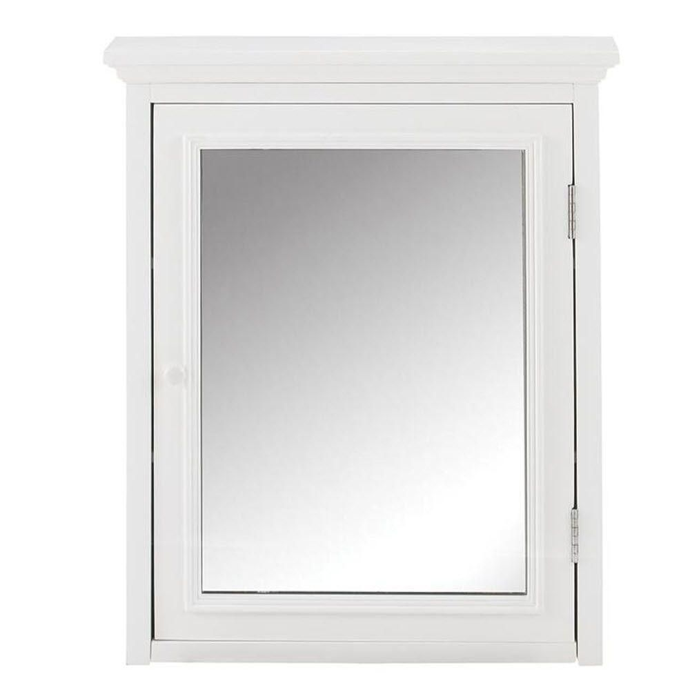 Home Decorators Collection Fremont 24 In W X 30 In H X 6 1 2 In D Framed Surface Mount Bathroom Medicine Cabinet In White 2944200410 Mirror Wall Framed Mirror