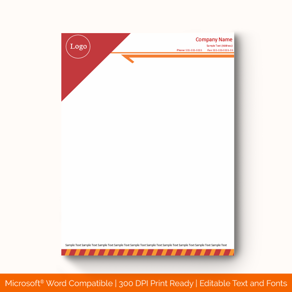 Letterhead Template 1157 Red Doc Formats Company Letterhead Template Letterhead Template Company Letterhead
