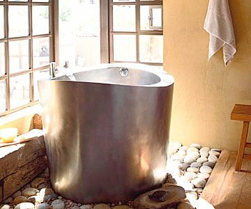 Silent Soaking Tub: This would be perfect in our Big Sur home!  So beautiful!