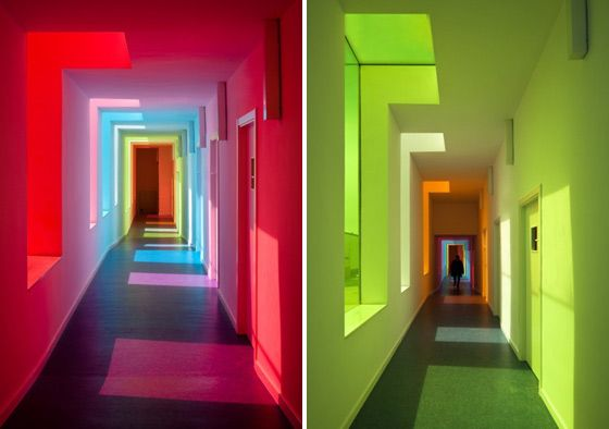 Colour corridor hallways pinterest