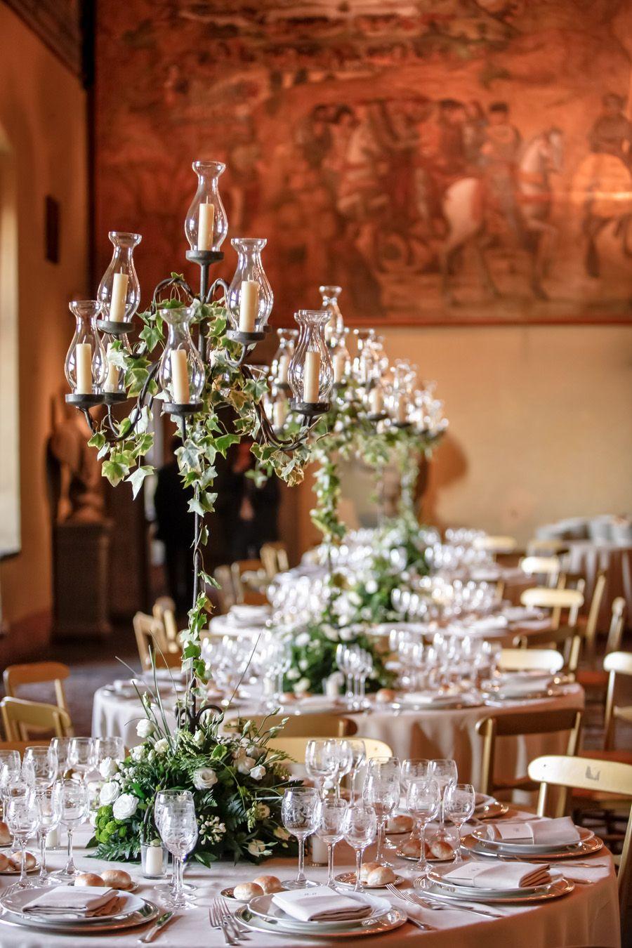 Candelabra Centerpieces With Ivy Wedding Stuff Pinte