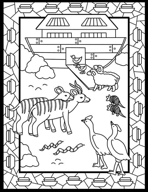 Noahs Ark Coloring Pages - News - Bubblews | Actividades Cristianas ...