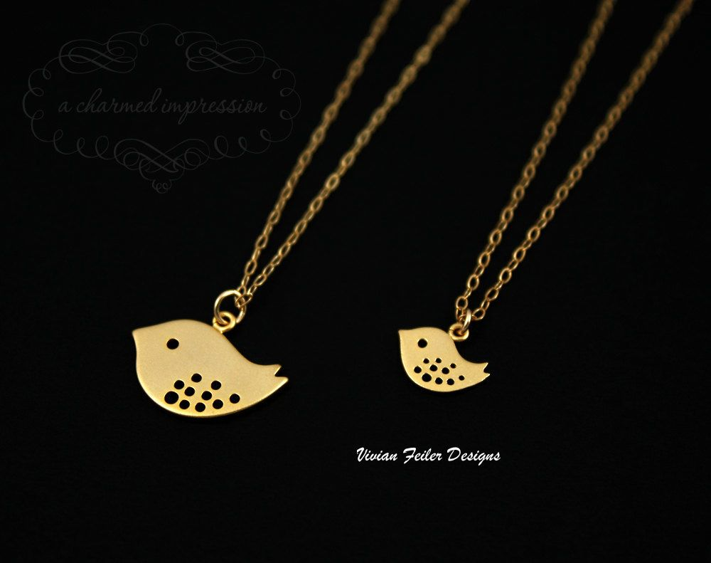 Mother daughter necklace jewelry set k gold filled give