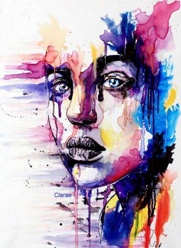 20 Stunning Watercolor Portraits Contemporary Art Art