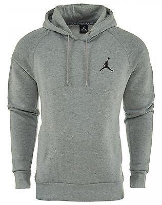 70e182fba38c30 Nike Jordan Jumpman Brushed Po Hoodie Mens 689267-063 Grey Pullover Hoody  Sz 2XL