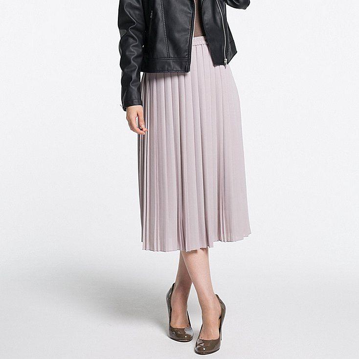 Women high waist chiffon pleated midi skirt | Best High waist ...