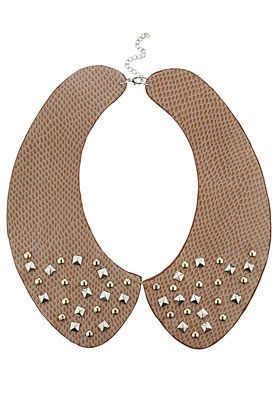 Metal Stud Collar Necklace