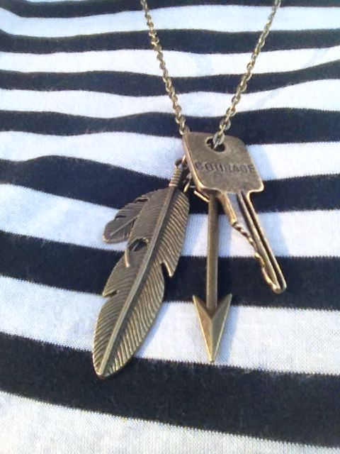 Took my Courage key that mops.org sent and added it to this necklace I had made. Less the $15 for this beautiful piece. #beyoubravely #mops #thebridgemops #couragenecklace #feathers #Arrow https://www.etsy.com/listing/203222600