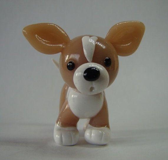 Figura Animal de poco Chihuahua miniatura por iCraftCreations