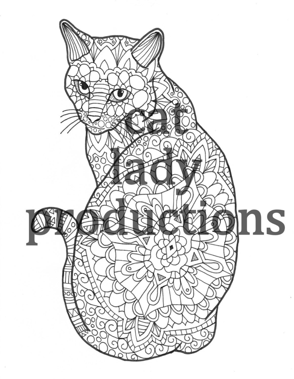 Zentangle Cat Yahoo Image Search Results In 2020 Cat Coloring Book Cat Coloring Page Animal Coloring Books [ 1291 x 1000 Pixel ]