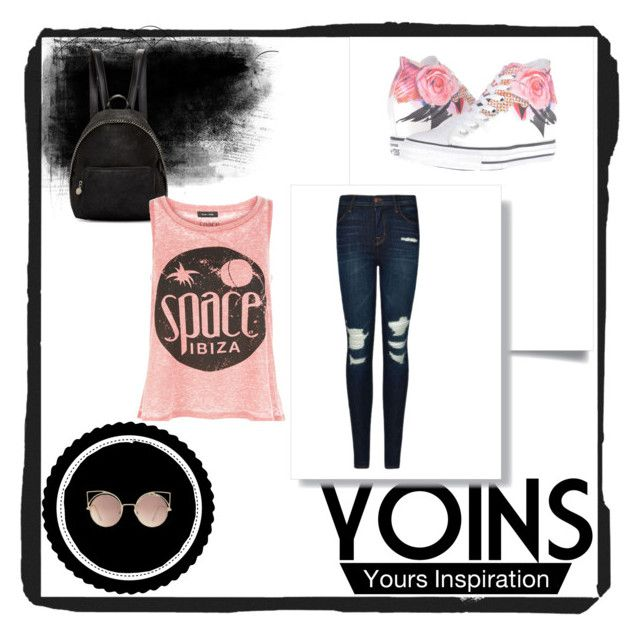 """""""Relax"""" by adna-00 ❤ liked on Polyvore featuring Converse, J Brand, MANGO, STELLA McCARTNEY and New Look"""