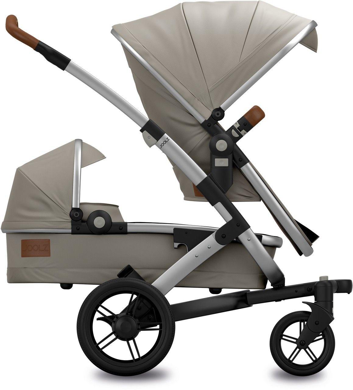 ein geschwisterwagen f r ein baby und ein kleinkind der joolz geo earth elephant grey duo. Black Bedroom Furniture Sets. Home Design Ideas