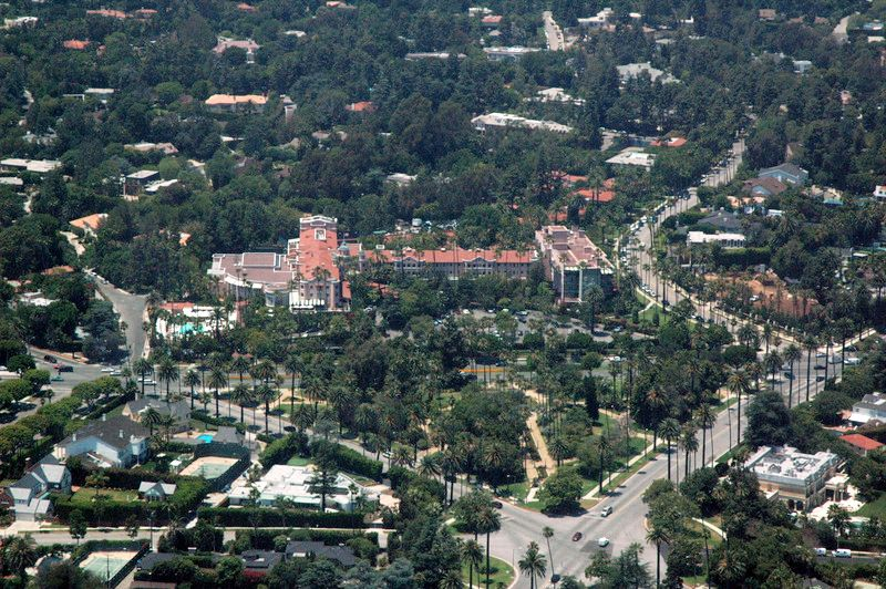 The Beverly Hills Hotel Aka Pink Palace Occupies A Large Piece Of Land