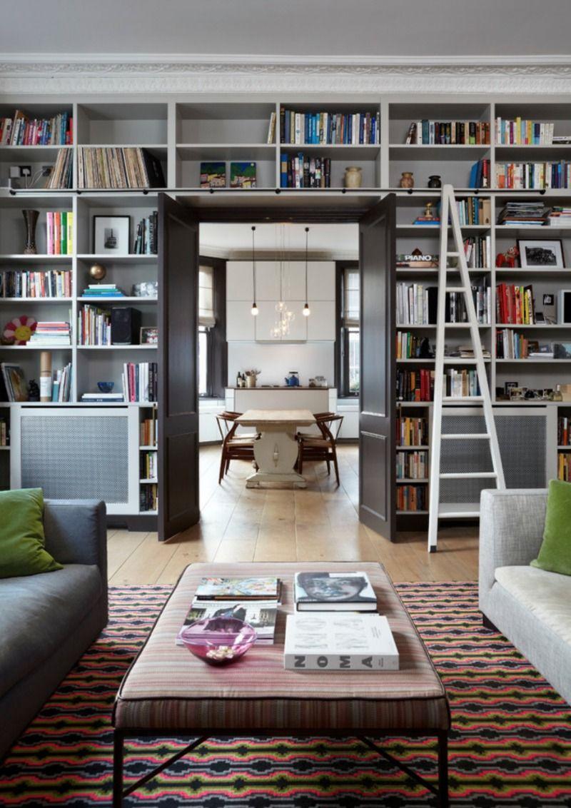 Living Room Library Design Ideas: Jak Zamontować Drzwi Do Pawlacza