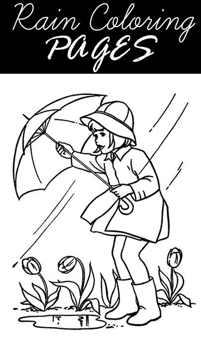 preschool rainy day coloring pages - photo#21