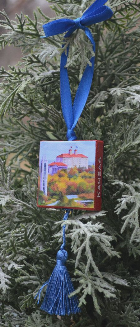 UNIVERSITY of KANSAS Ornament or Magnet / by ArtistsHoliday
