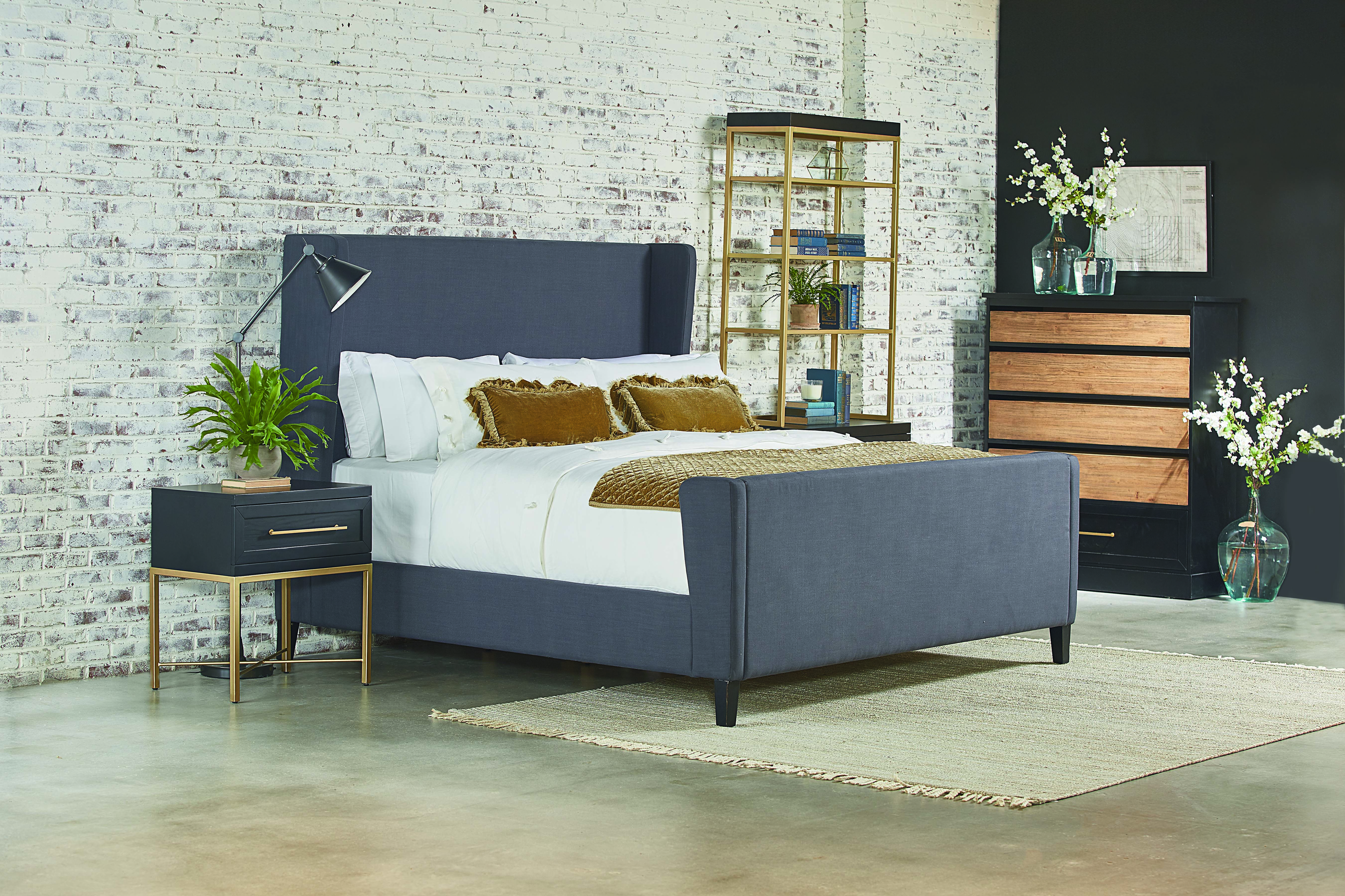 Magnolia Home By Joanna Gaines Modern Upholstered Bed Queen Upholstered Bed King Upholstered