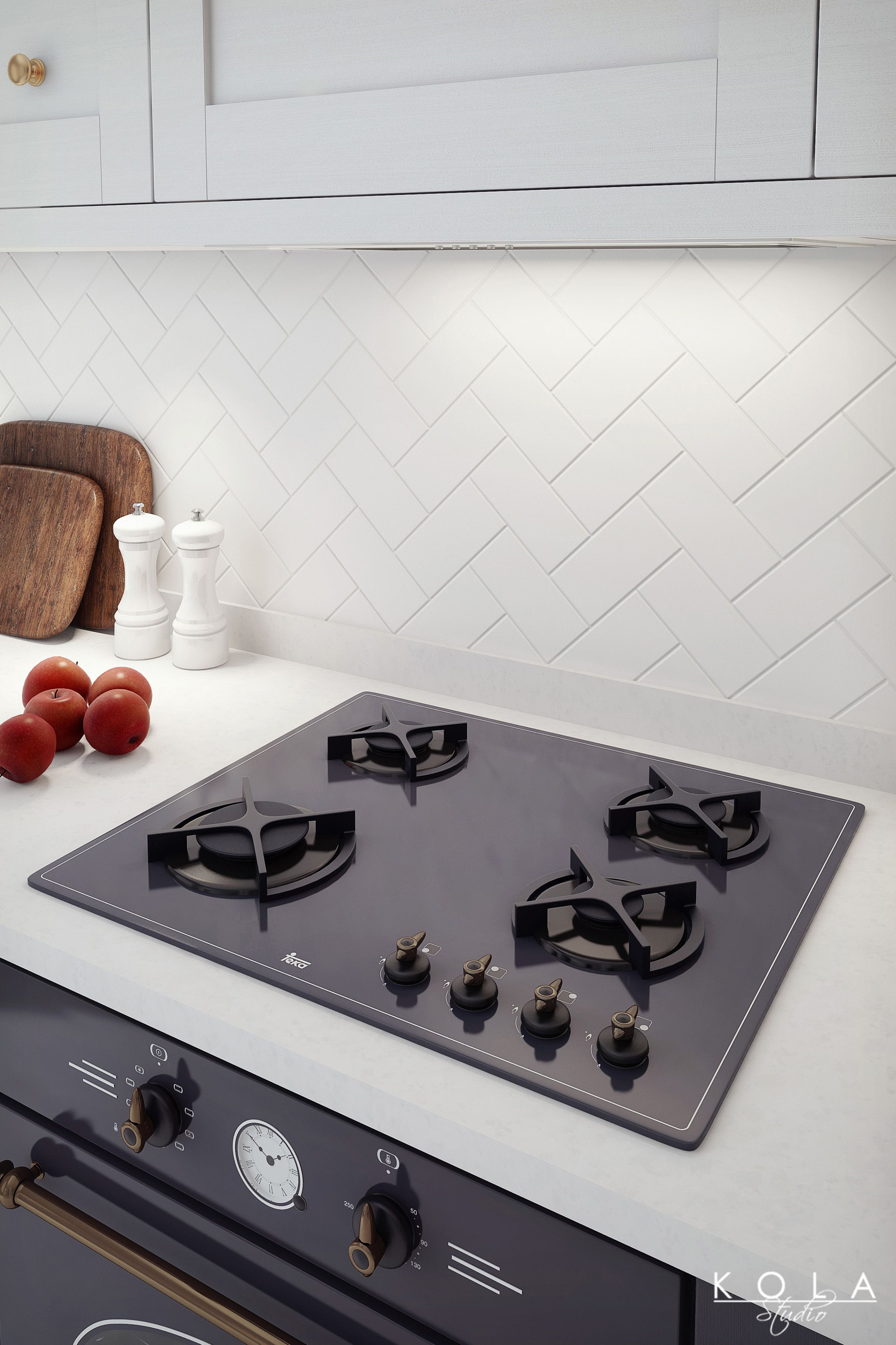 Contemporary retro / transitional kitchen ideas. Visualizations of ...
