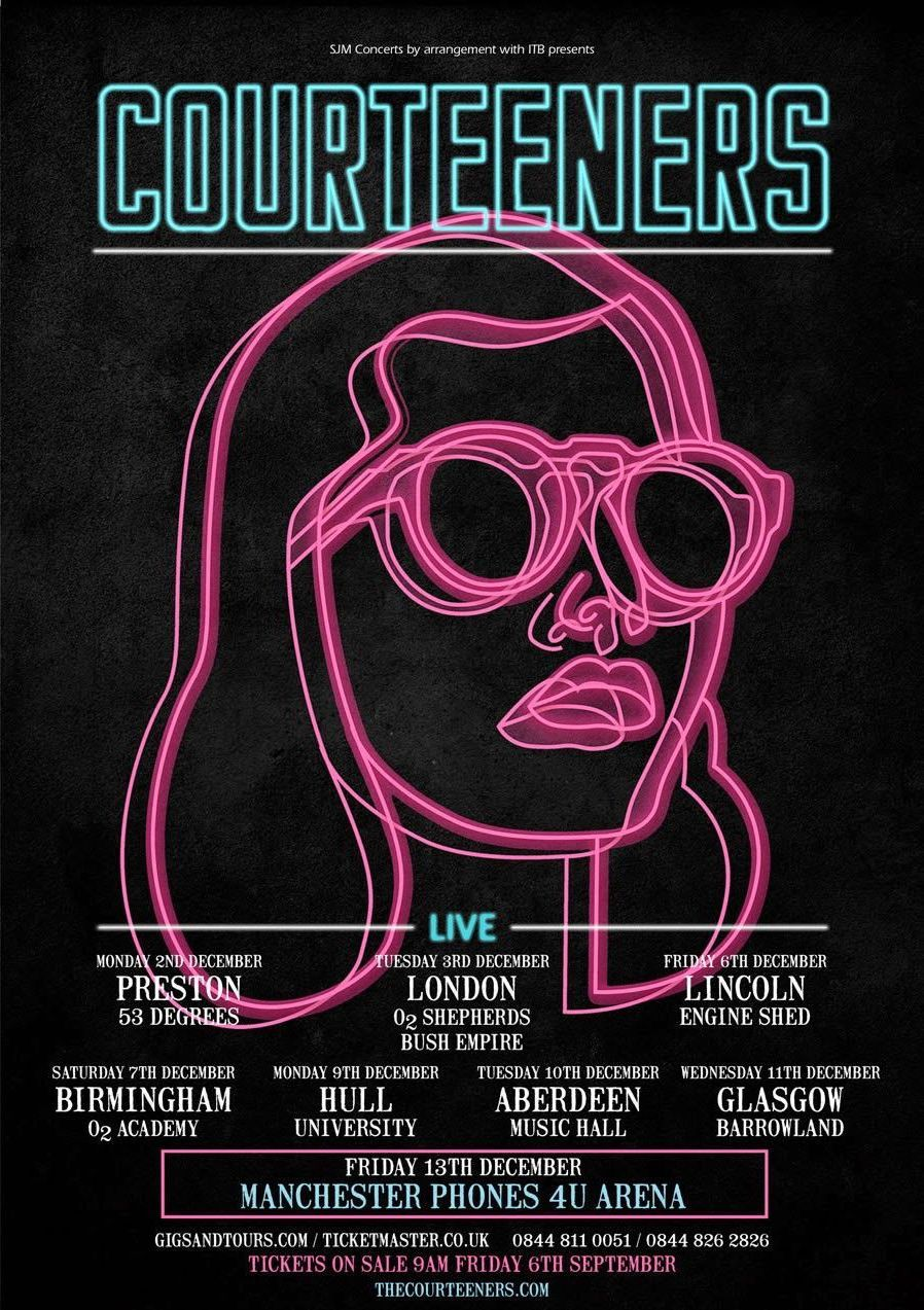 The Courteeners Concert Event Poster Example | Venngage Inspiration Gallery #posterdesigns