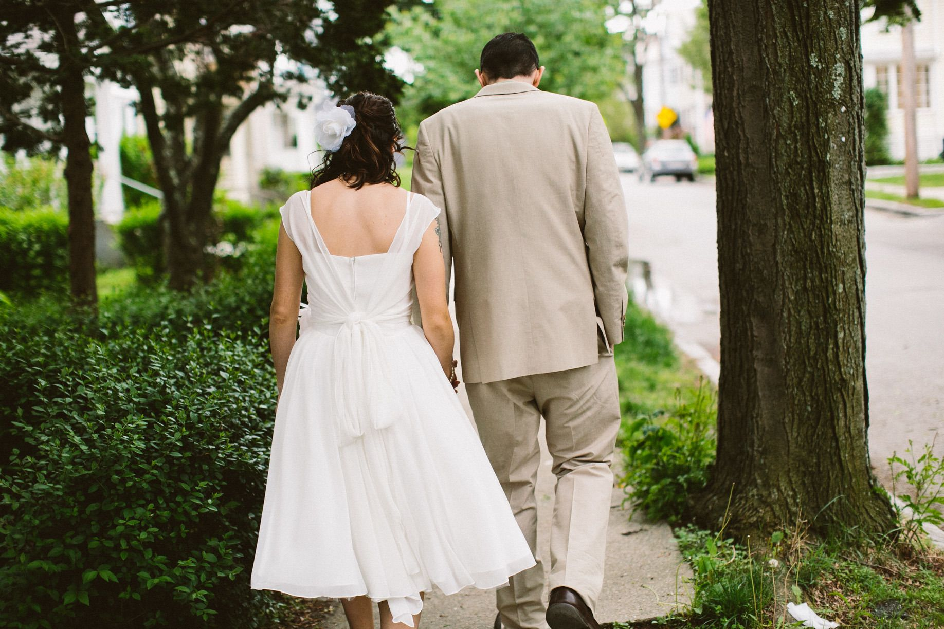 Photography: Zac Wolf Photography - www.zacxwolf.com A back shot - especially if my dress has a super duper back Read More: http://www.stylemepretty.com/new-england-weddings/2014/03/14/diy-town-hall-wedding-in-arlington-massachusetts/