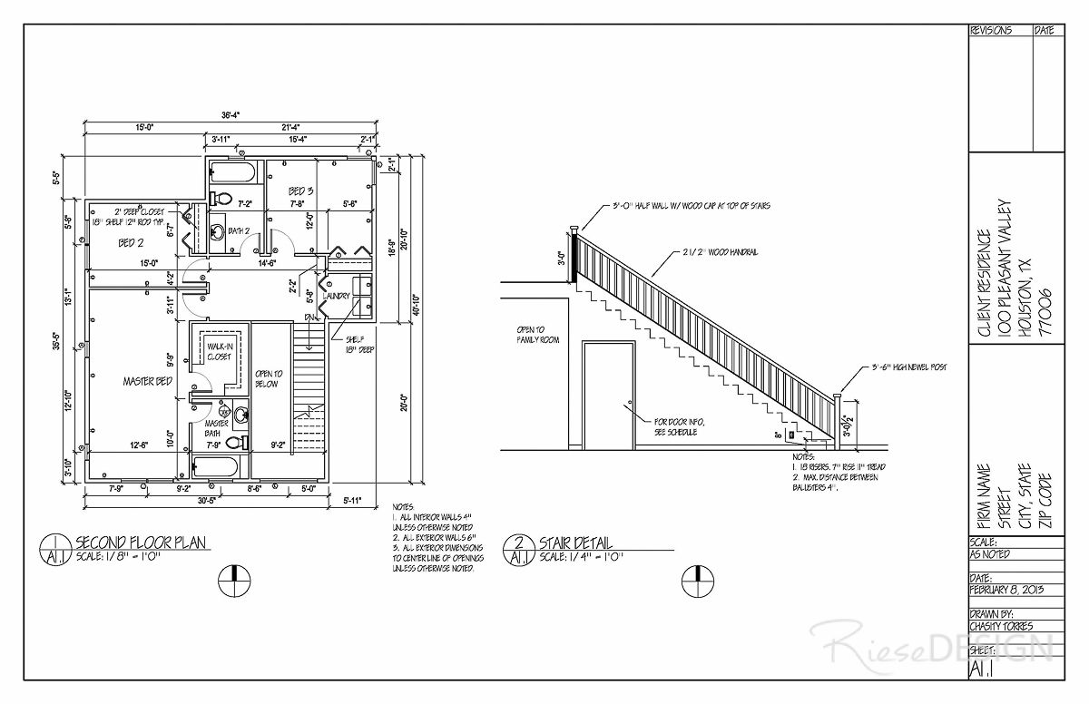 Pin By Riese Design Chasity Torres On Autocad Drafting Riese Design Stair Detail Floor Plans Two Story Homes