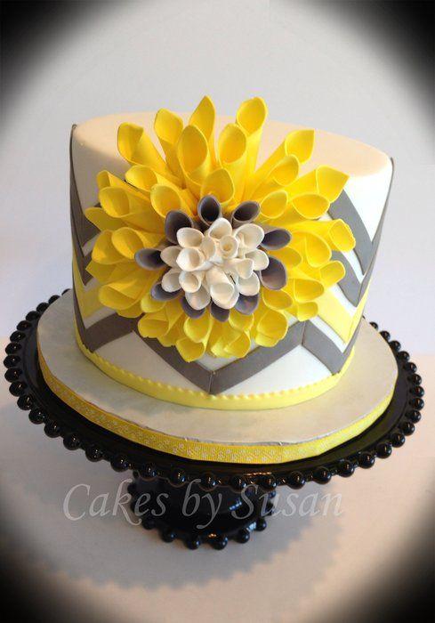<3 Gray and yellow chevrons