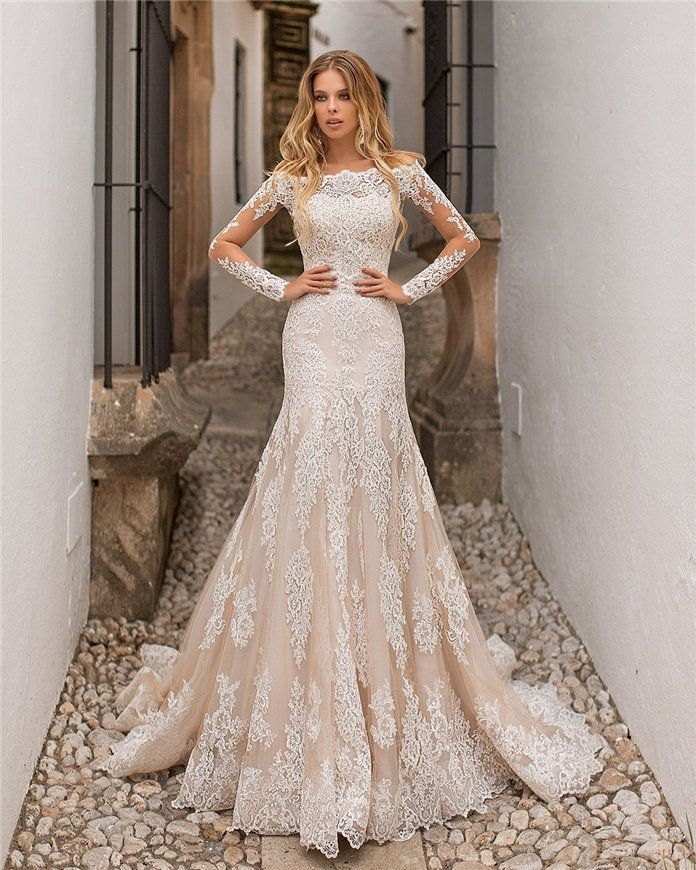 Drop Sleeve Wedding Gowns With: 40 Lace Wedding Dresses Inspiration For Bridal 2019