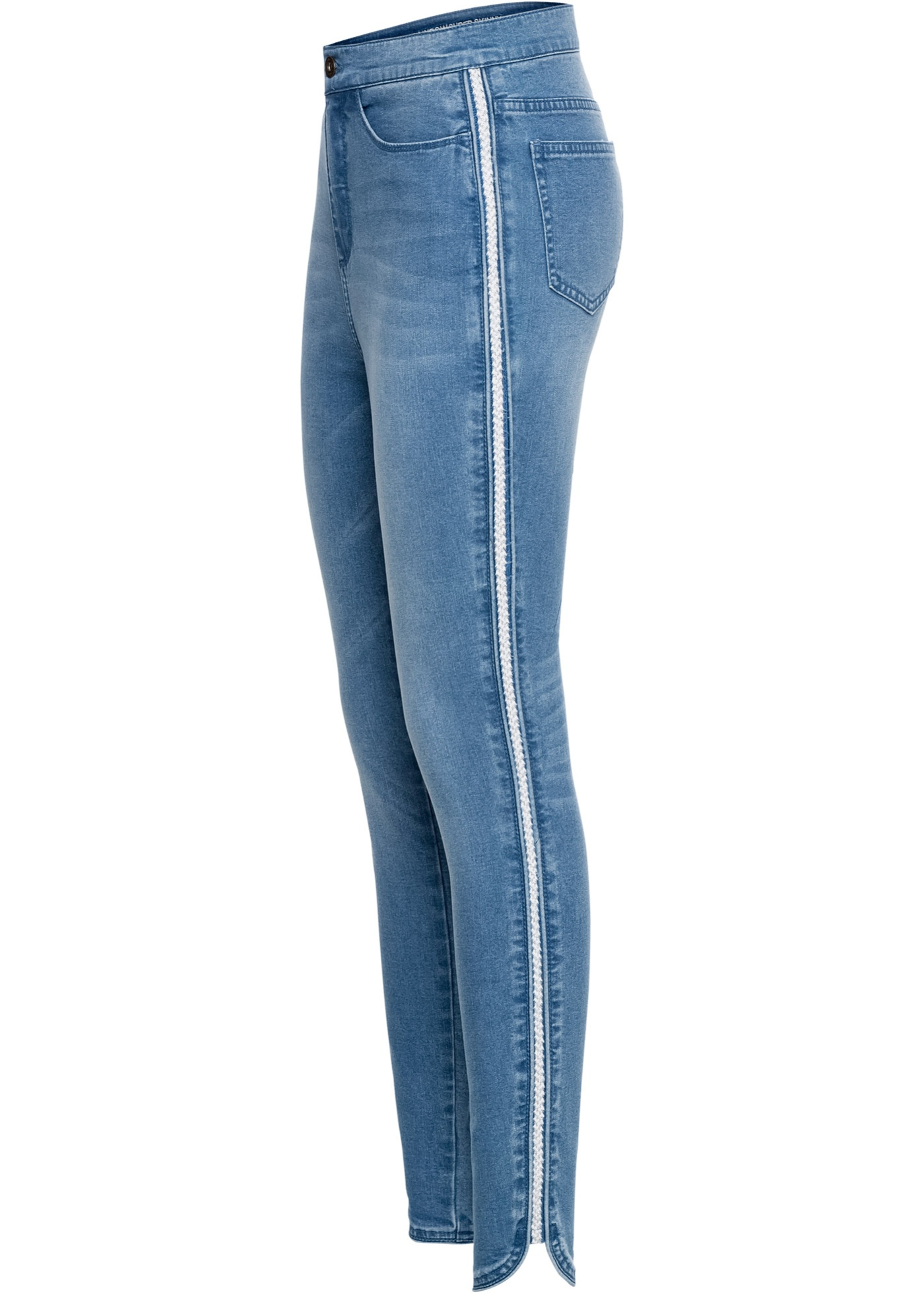 Skinny Jeans mit Glitzer