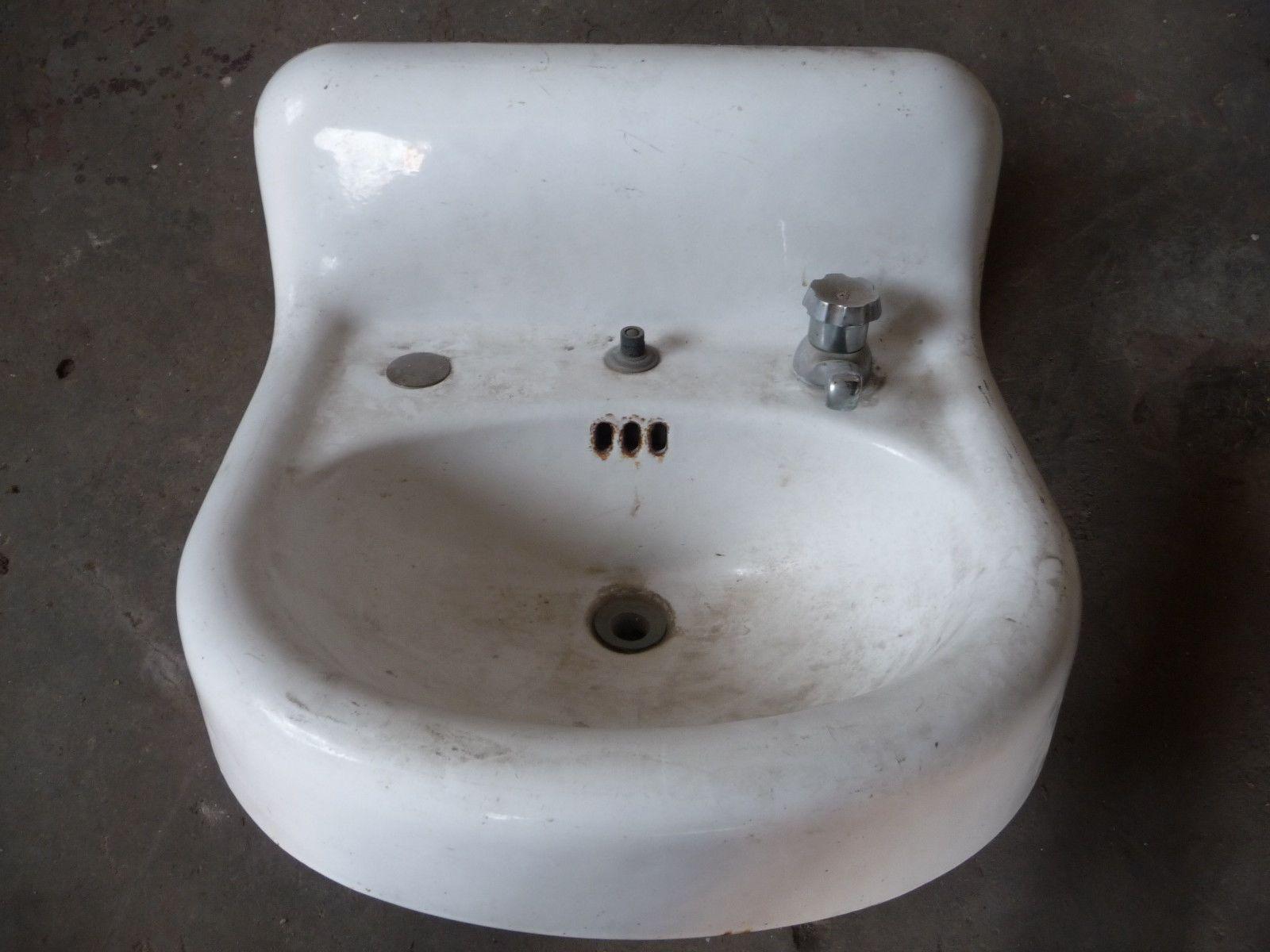 Antique Victorian Bathroom Lavatory Sink - Circa 1905 Architectural ...
