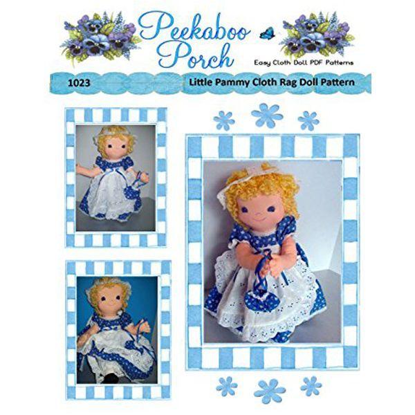 Little Pammy Rag Doll Easy Cloth Doll PDF Pattern - Easy PDF Sewing ...