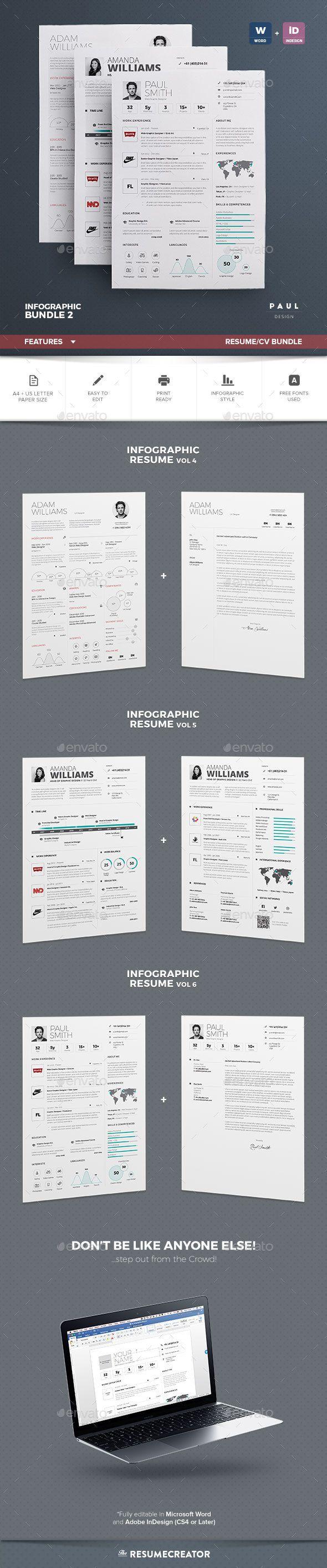 Infographic Resume Cv Bundle Download Https Graphicriver Net Item Infographic Resumecv Bundle Vol 2 18704680 Infografik Lebenslauf Lebenslauf Cv Lebenslauf
