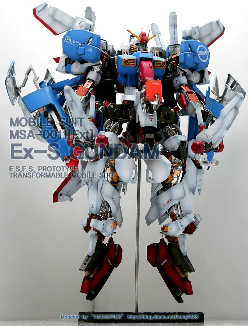 MOBILE SUIT MSA-0011[Ext] Ex-S GUNDAM E.S.F.S. PROTOTYPE TRANSFORMABLE MOBILE SUIT FULL HATCH OPEN VER...KONG7428