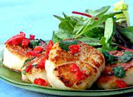 Pan-Seared Scallops with a Special Thai Sauce. I used macadamia nut oil for the sauce and it was fantastic!