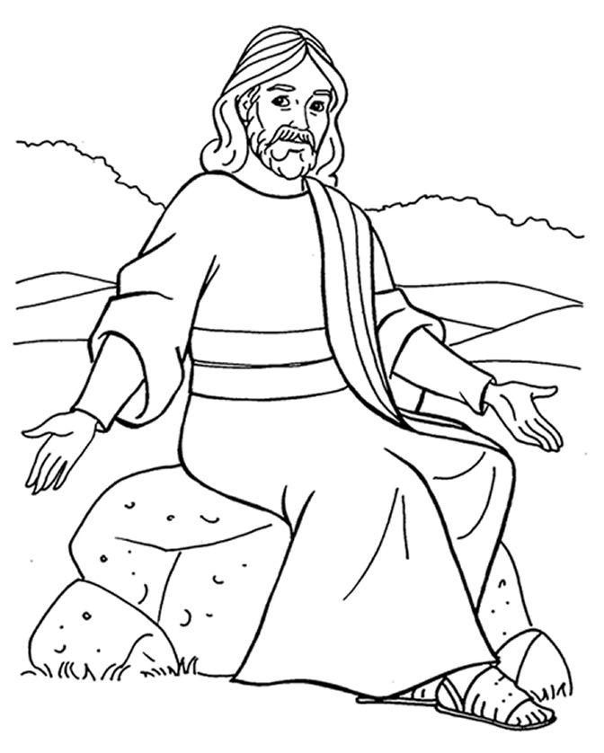Jesus Teaching Parables Coloring Pages Sketch Coloring Page Jesus Coloring Pages Coloring Pages Colouring Pages