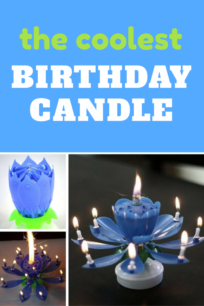 The Amazing Birthday Candle Cakes Will Never Be Same Again This Unfolds To Look Like A Beautiful Lotus Flower And Even Shoots Flame