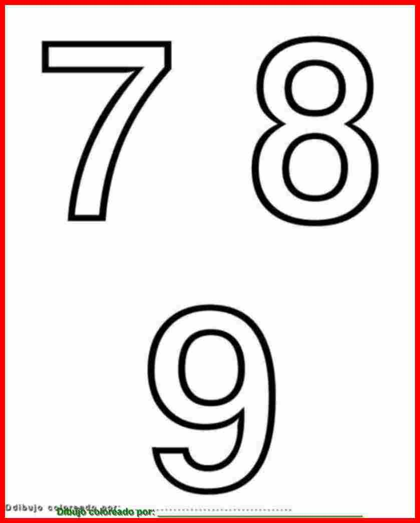 Números 7, 8, 9, para imprimir, colorear, pintar, decorar ...