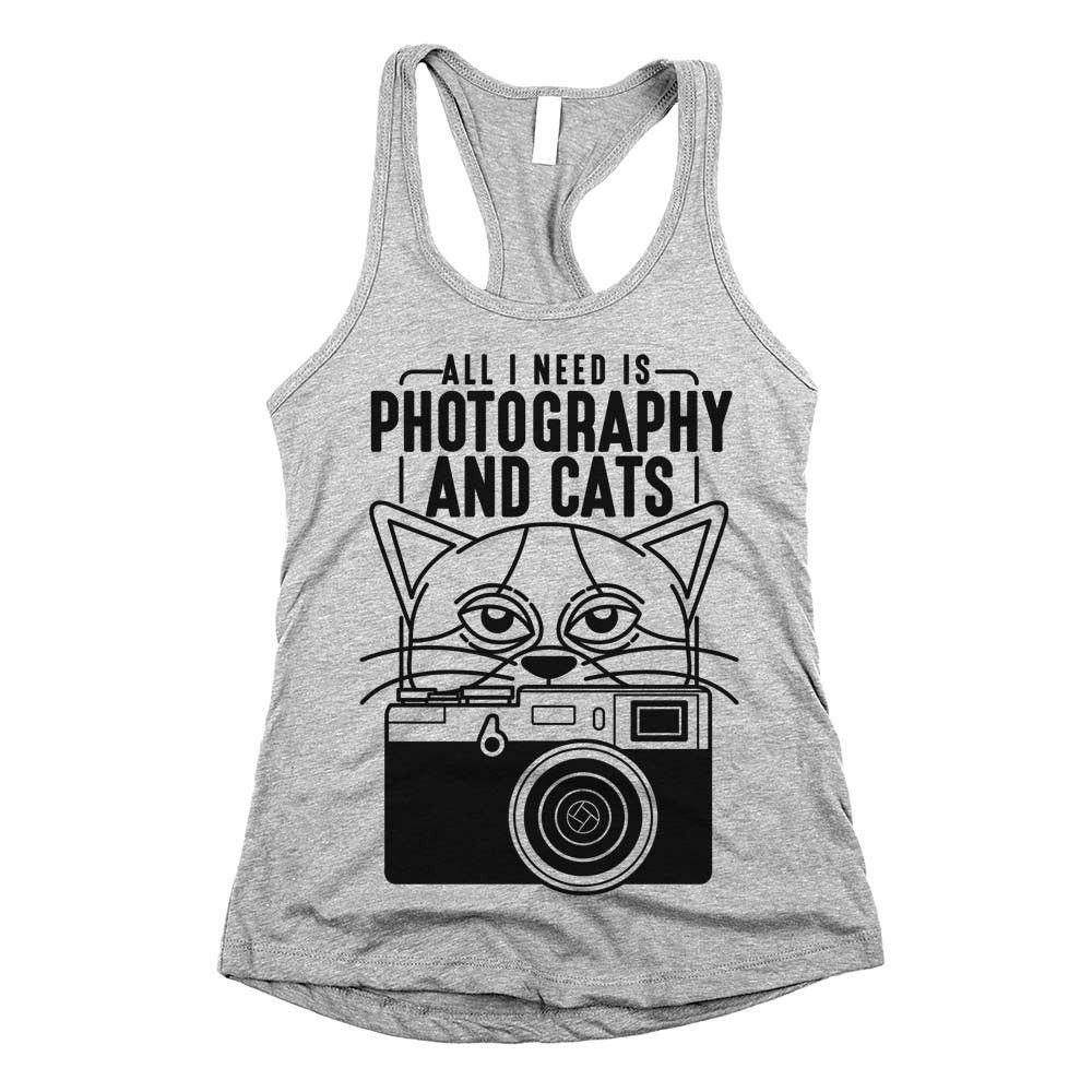 'All I Need is Photography and Cats' is part of Clothes Photography Happy - Our 'Photography and Cats' shirt is the perfect addition to any cat lover's clothing collection  available in tshirts, tank tops & sweatshirts!