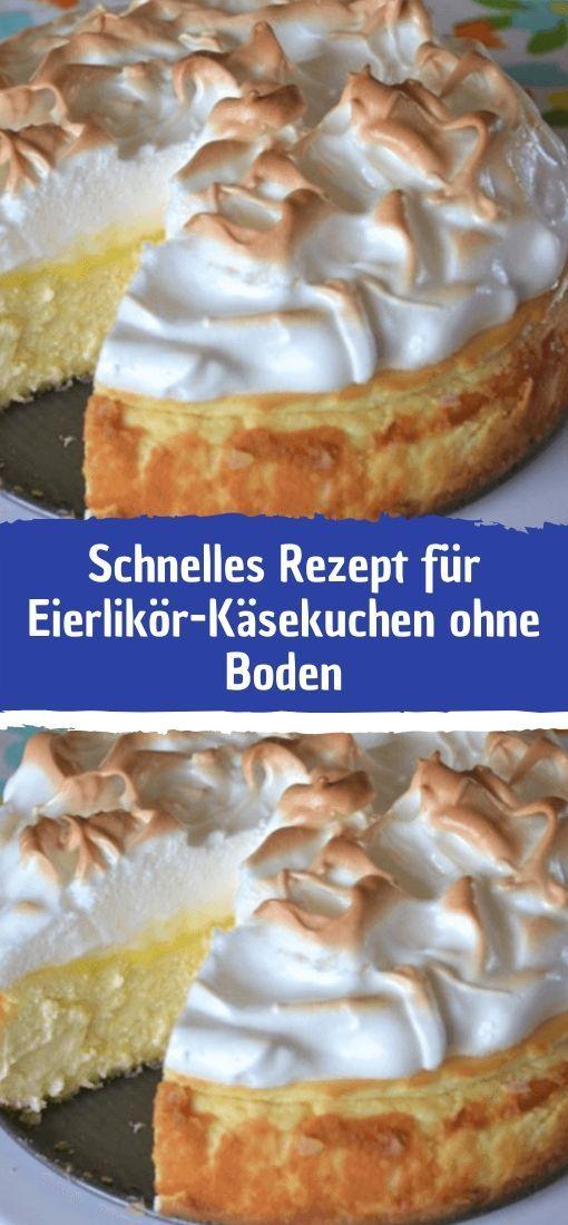 Photo of Zutaten für 12 Stücke: 1 kg Sahnequark 150 ml Eierlikör 5 Eier (M) 200 g Zuck…