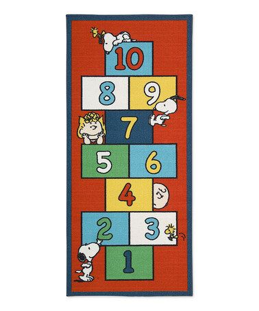 Another great find on #zulily! Red Charlie Brown Hopscotch Rug #zulilyfinds