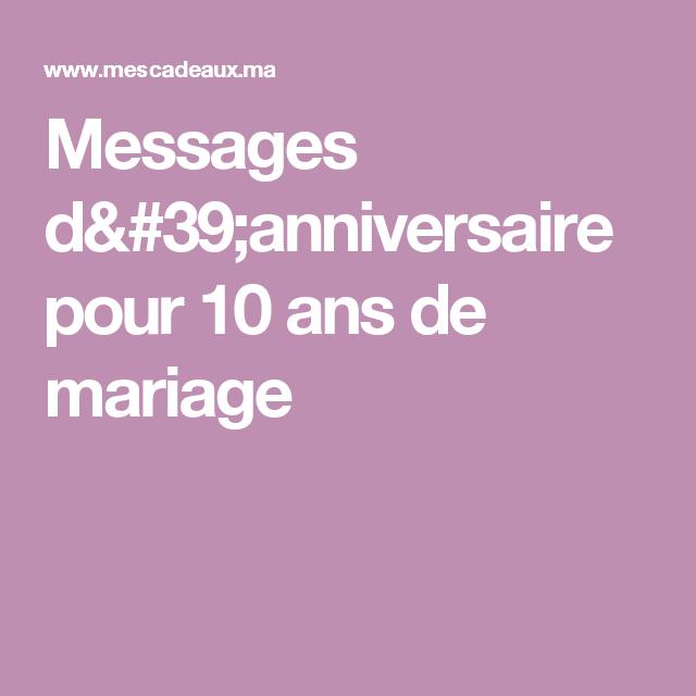Messages D Anniversaire Pour 10 Ans De Mariage Dessins Et