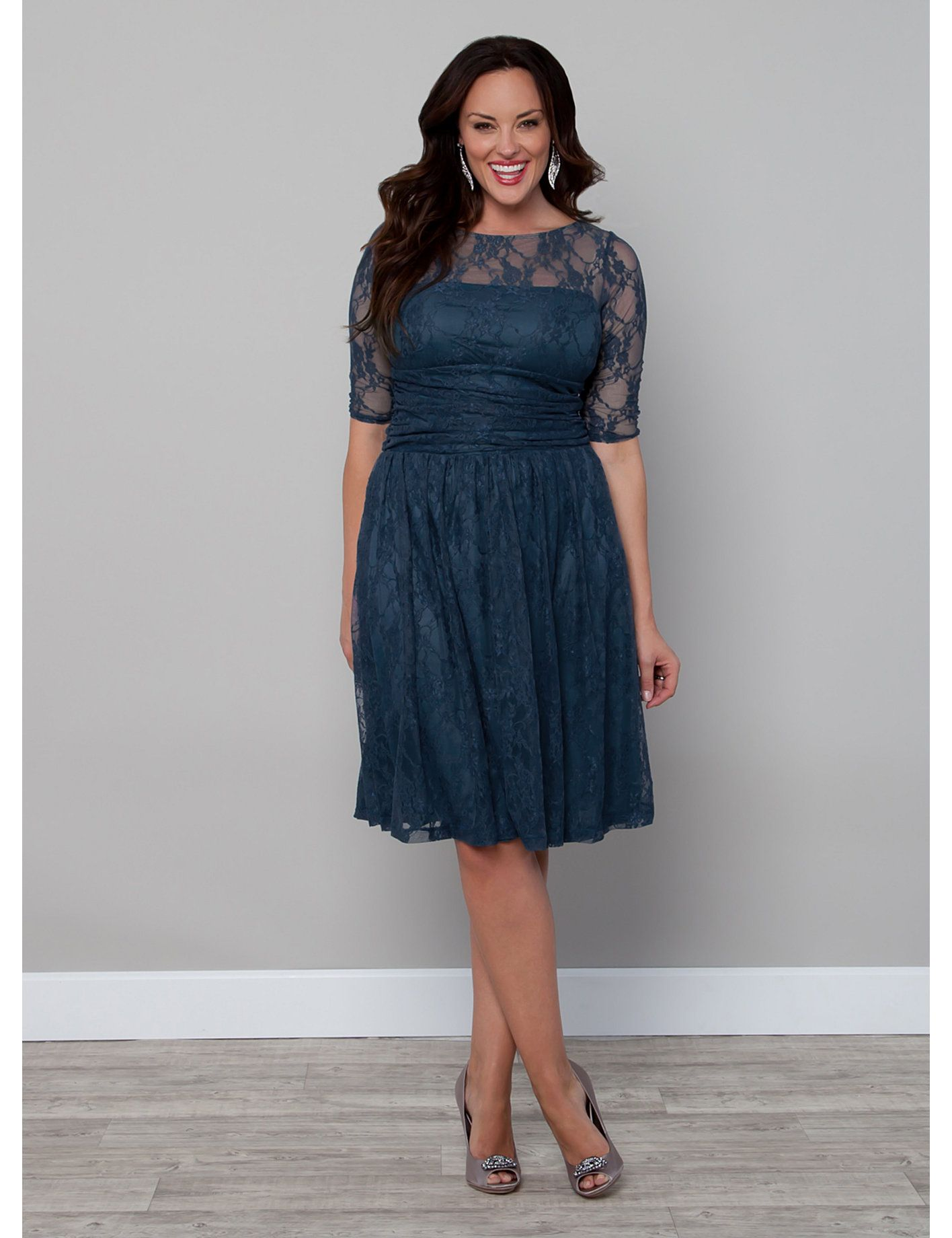 Teal lace dress from Lane Bryant....I have a slight obsession with ...