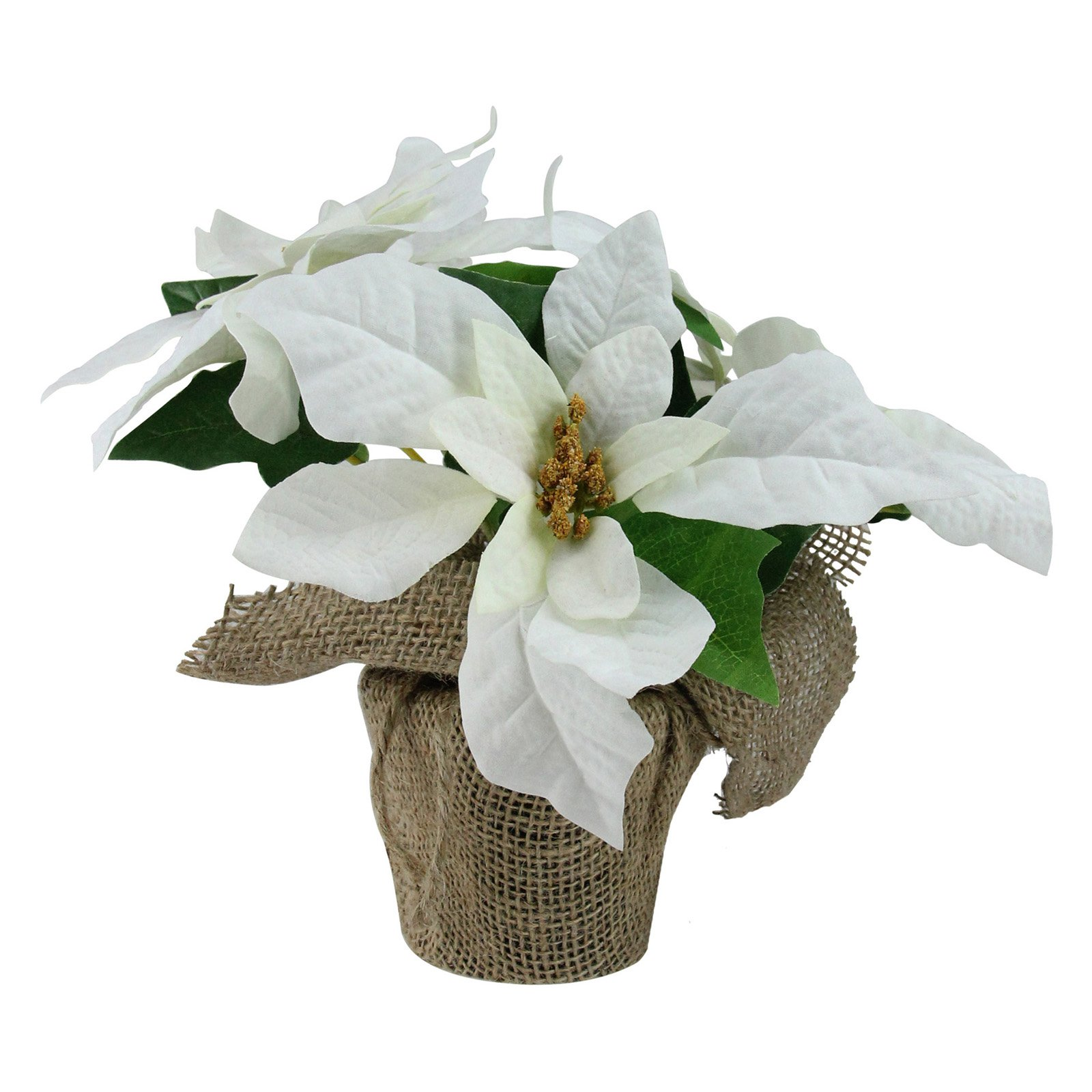 Northlight White Artificial Christmas Poinsettia Flower