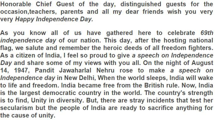 69th Independence Day Speech In Hindi English 15th Aug 2015 Essay On 15 August