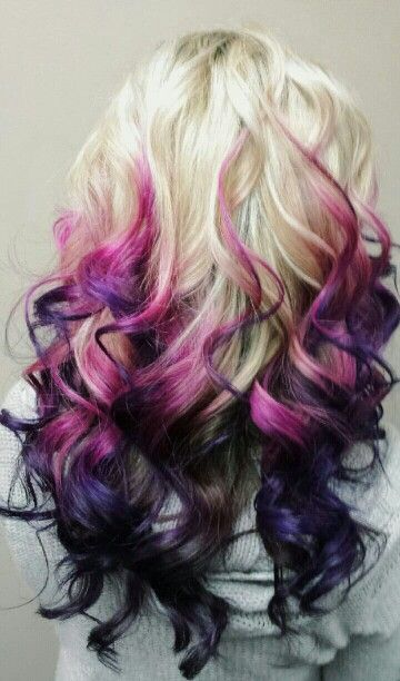 My Newest Hair Change Blonde Pink Purple Ombre Love It Blonde Hair With Highlights Platinum Blonde Hair Blonde Hair Color
