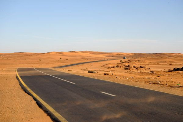 Highway across the Libyan Desert northwest of Khartoum http://www.pbase.com/bmcmorrow/sudanlibyandesert&page=all