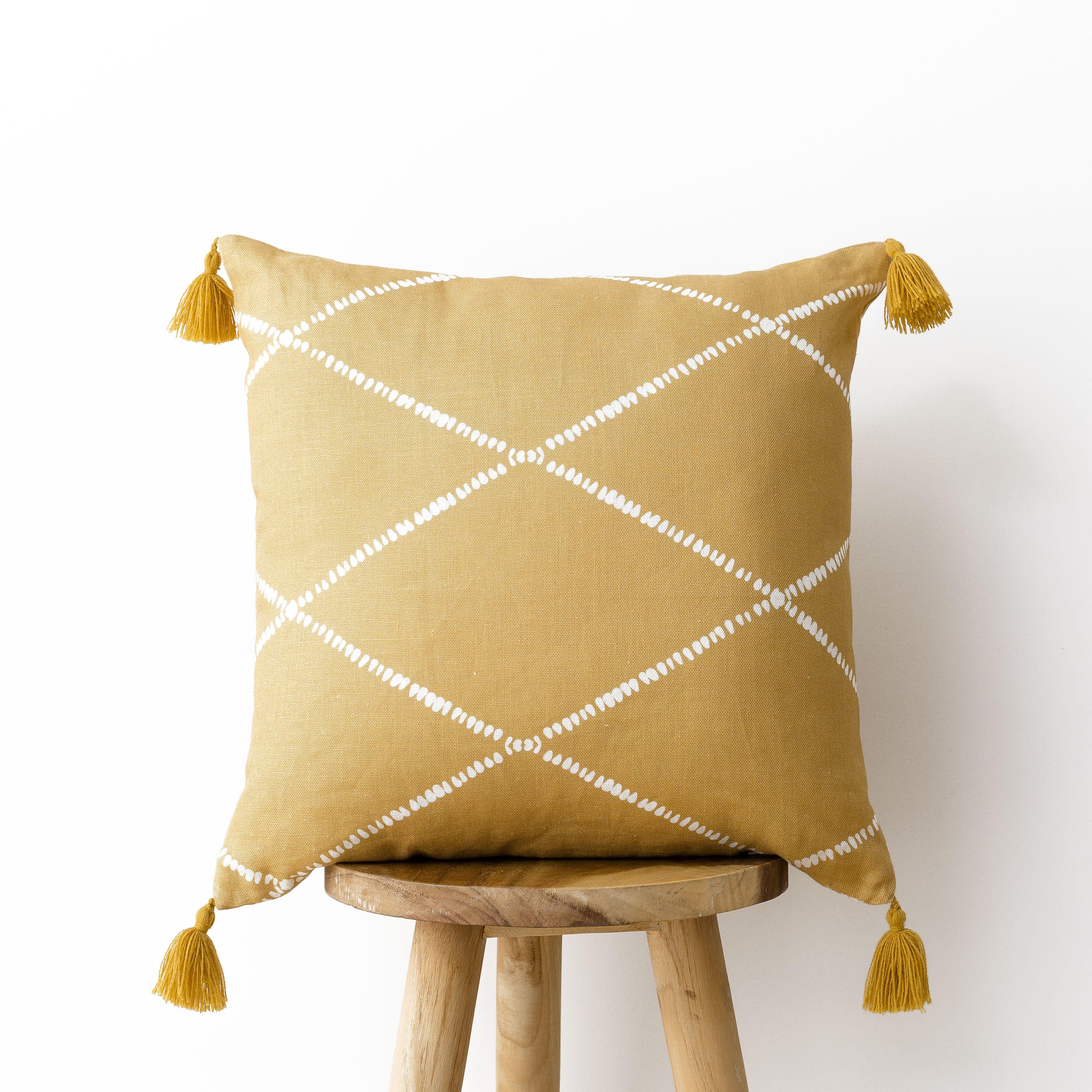Rummi coj n mostaza 45x45 detalles pinterest bedroom for Home disena y decora tu hogar