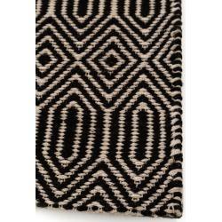 Photo of benuta Flachgewebeteppich Sloan Schwarz/Weiß 120×170 cm – Moderner Teppich für Wohnzimmer benuta