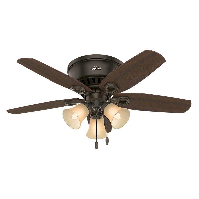 Hunter Builder Low Profile 5109 42 In Indoor Ceiling Fan 51091 Ceiling Fan Bronze Ceiling Fan