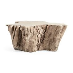 Root Outdoor 52 Bleached Coffee Table