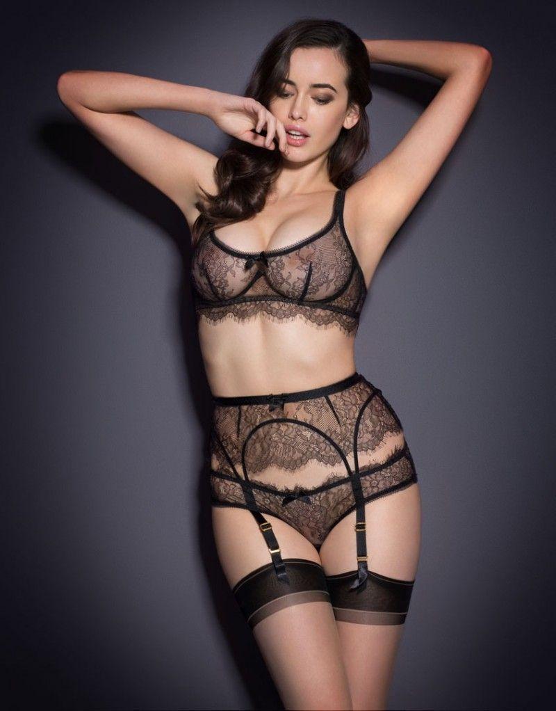 9470cdbe3c Elly Suspender Black Hot Lingerie